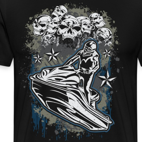Jet Ski Skull Bunch - Men's Premium T-Shirt