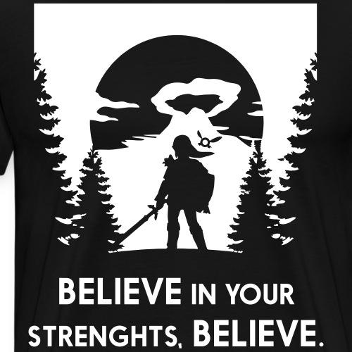 ZELDA_BELIEVE tree - Men's Premium T-Shirt