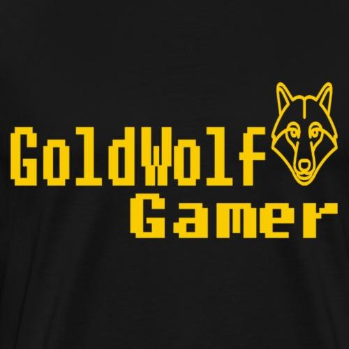 GoldWolf Gamer 8Bit - Men's Premium T-Shirt