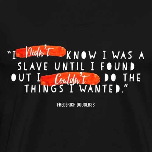 Frederick Douglass White (Red Series) - Men's Premium T-Shirt