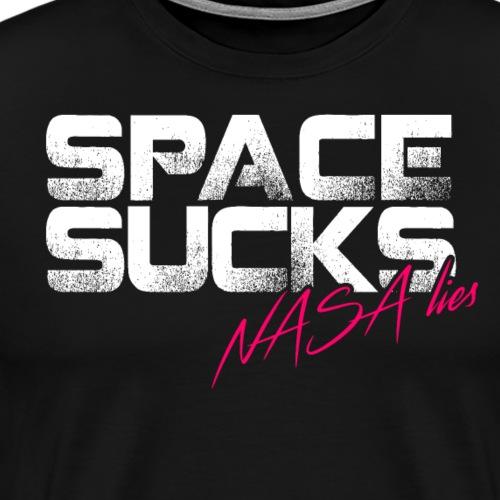Vacuum Joke, Space Sucks - Flat Earth - Men's Premium T-Shirt
