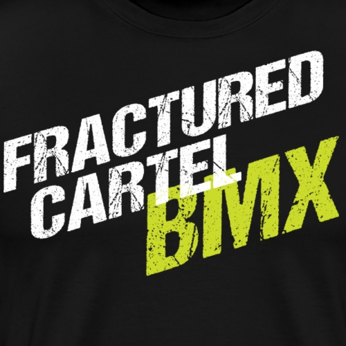 Fractured Cartel BMX White & HiVis - Men's Premium T-Shirt
