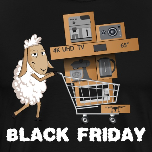 Black Friday or The day of Panurge's Sheeps - Men's Premium T-Shirt