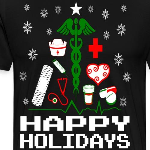 Nurse Christmas Tree - Men's Premium T-Shirt