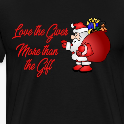 Christmas - Love the giver - Men's Premium T-Shirt