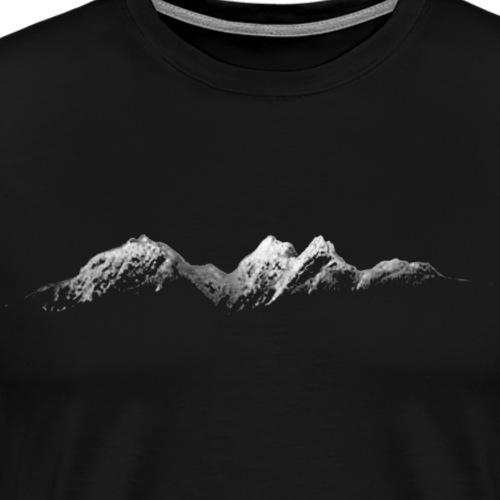 Mountains at Night - Men's Premium T-Shirt