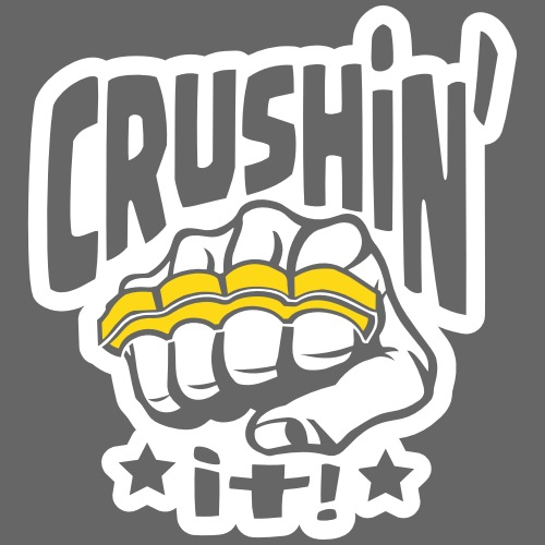 Crushin' it, or Crushing it! Brass Knuckles Style - Men's Premium T-Shirt