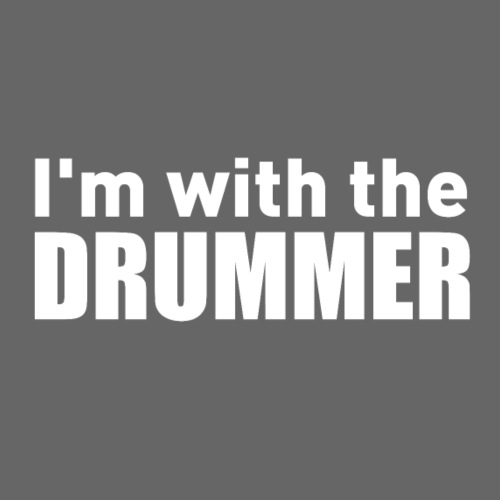 I'm with the drummer white text - Men's Premium T-Shirt
