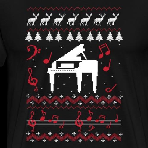 Christmas Carol Piano | Ugly Sweater - Men's Premium T-Shirt