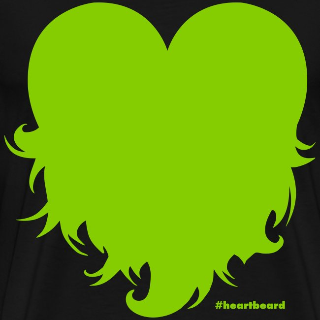 Heartbeard with text