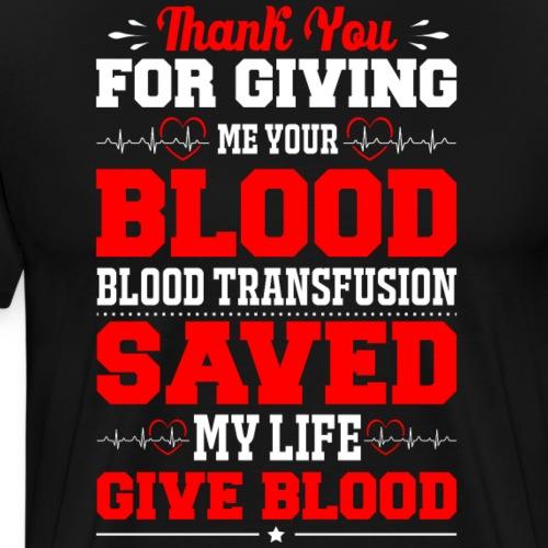 Blood saved Me - Men's Premium T-Shirt