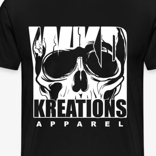WKD Wicked Kreations Apparel Skull Design - Men's Premium T-Shirt