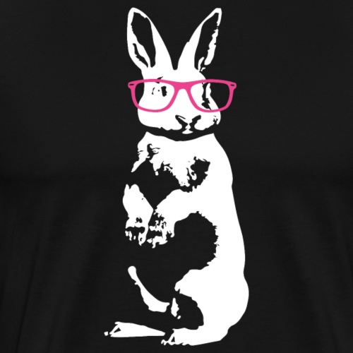 Cool Bunny with Hipster Glasses Men Women Kids Tee - Men's Premium T-Shirt