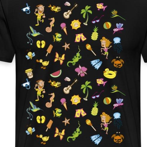 Enjoy summer holidays pattern design - Men's Premium T-Shirt
