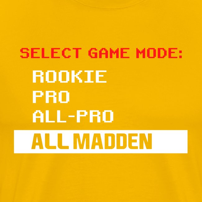 ALL MADDEN (GAME VERSION)