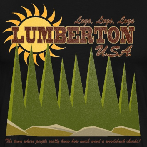 Lumberton, USA [Blue Velvet] - Men's Premium T-Shirt