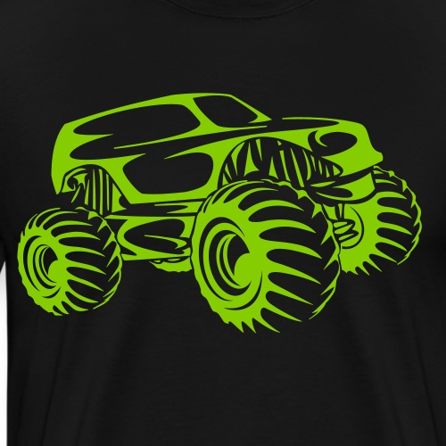 Monster Truck Abstract - Men's Premium T-Shirt