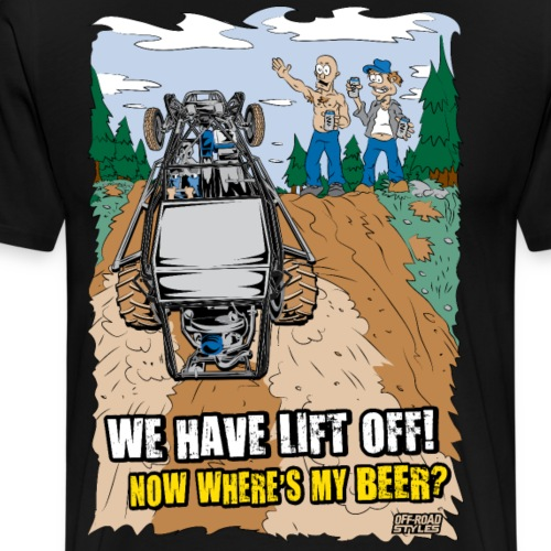 Beer Buggy Lift Off - Men's Premium T-Shirt