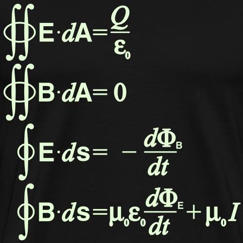 Maxwell's equations (integral) - Men's Premium T-Shirt