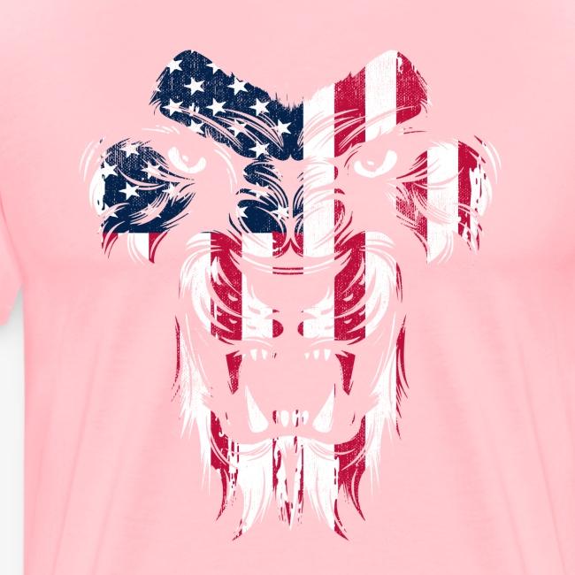 American Flag Lion