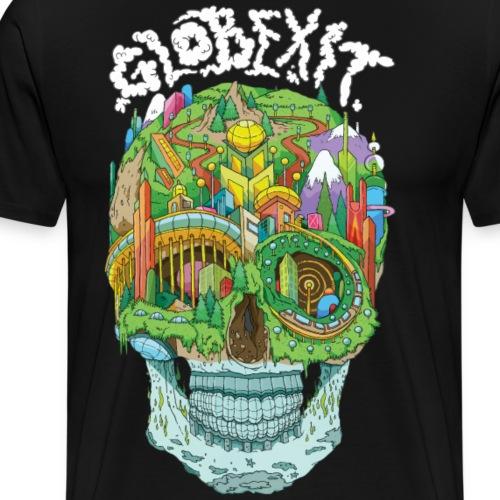 Globexit - Flat Earth - Men's Premium T-Shirt