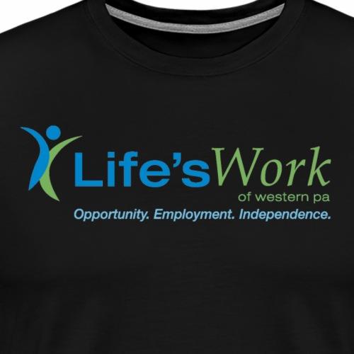 Life-sWork Standard Logo - Black - Men's Premium T-Shirt
