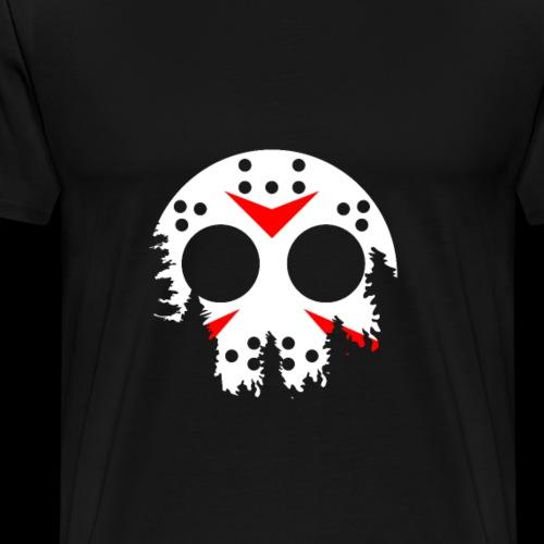 Haunted Halloween Hockey Mask - Men's Premium T-Shirt