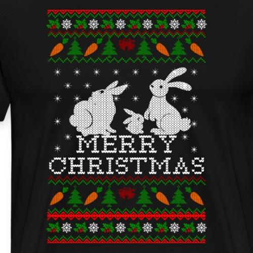 Bunny Rabbit Ugly Christmas Sweater for family - Men's Premium T-Shirt