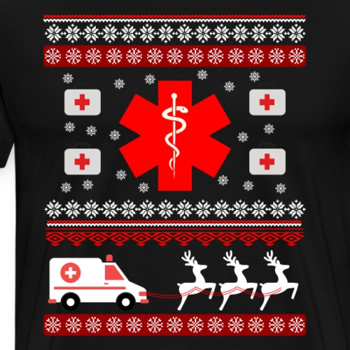 Funny Nurse or Doctor Ugly Christmas T-shirt Gifts - Men's Premium T-Shirt