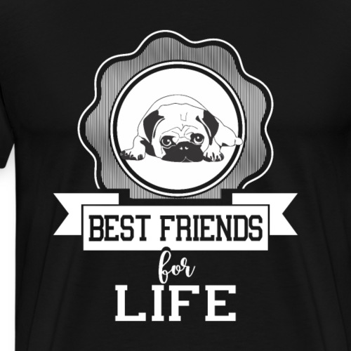 Pug - Best Friends For Life - Dog Lover - Men's Premium T-Shirt