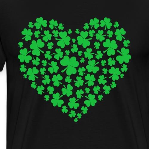 Lots Of Hearts Valentine's Day - Shamrock Heart - Men's Premium T-Shirt