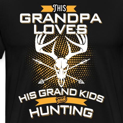 This Grandpa Love His Grand Kids And Hunting - Men's Premium T-Shirt