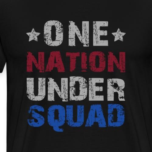 One Nation Under Squad - Patriot - Men's Premium T-Shirt