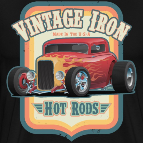 Vintage Iron Hot Rods Retro Car Lovers Design - Men's Premium T-Shirt