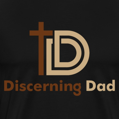 Discerning Dad logo - Men's Premium T-Shirt