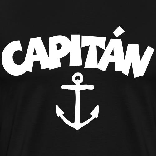 Capitán Anchor Captain Sailor Sailing Boating - Men's Premium T-Shirt
