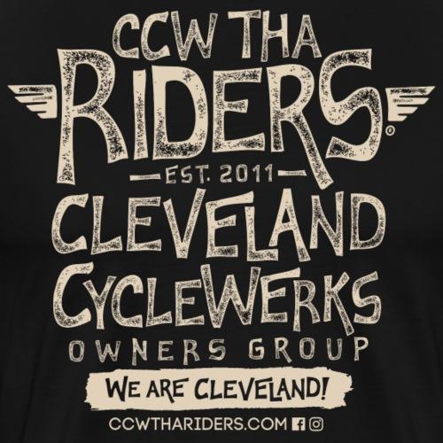 Tha Riders Stacked 2 Logo Design - Men's Premium T-Shirt
