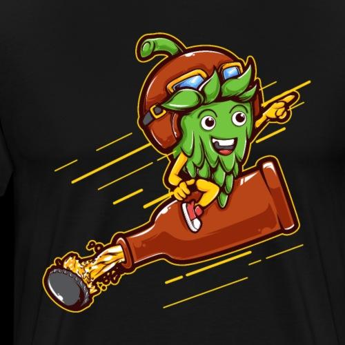 Hoppy Craft Beer Pilot - Men's Premium T-Shirt
