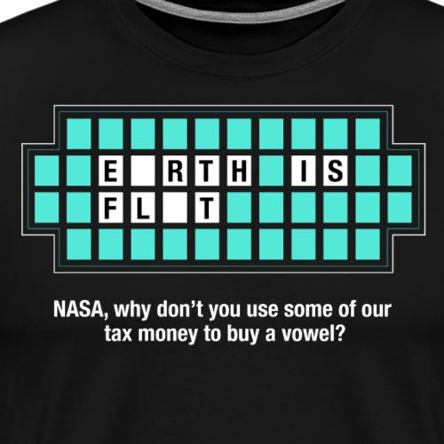 Jeopardy Flat Earth - Men's Premium T-Shirt