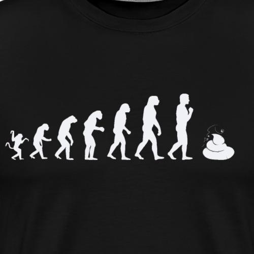 Evolution of man - shit - Men's Premium T-Shirt