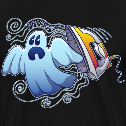 Heated iron, the worst nightmare for an evil ghost - Men's Premium T-Shirt