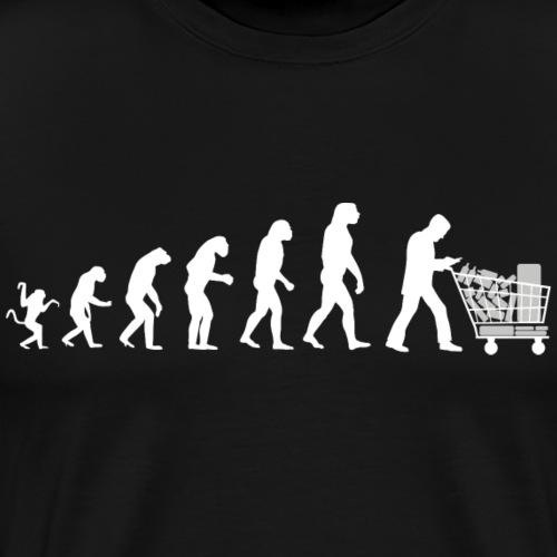 Evolution of man parody : just a consumer ! - Men's Premium T-Shirt