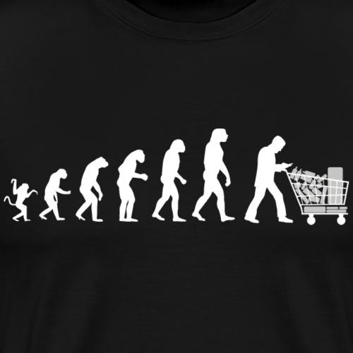 Evolution of man parody : just a consumer !