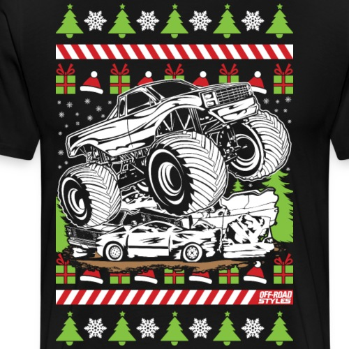 Ugly Christmas Monster - Men's Premium T-Shirt