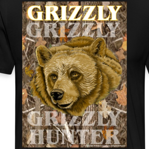 Grizzly Hunter - Men's Premium T-Shirt