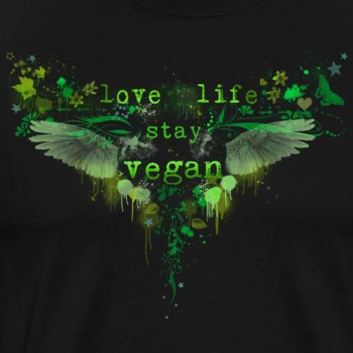 Live Life – Stay Vegan [green] - Men's Premium T-Shirt
