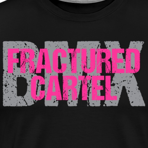 Fractured Cartel Pink & Grey - Men's Premium T-Shirt