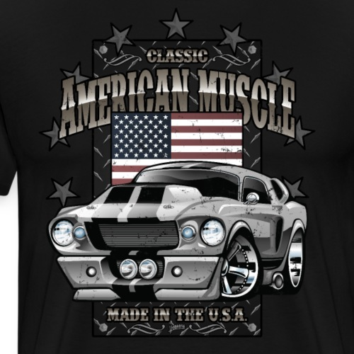 Classic American Muscle Car - Men's Premium T-Shirt