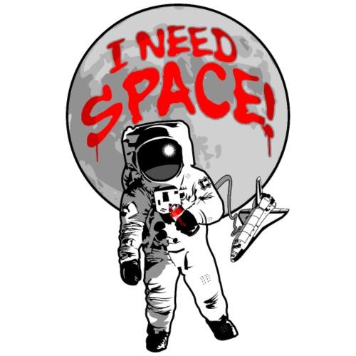 Astronaut - I Need Space - Funny Breakup Grafitti - Men's Premium T-Shirt