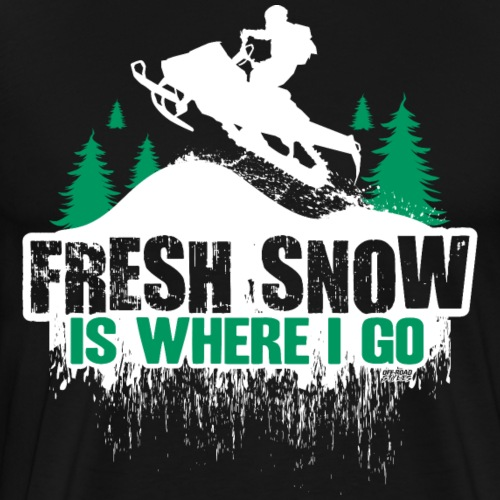 Snowmobile Fresh Snow - Men's Premium T-Shirt